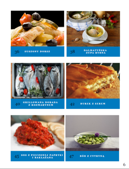 Smaki Chorwacji - spis treści