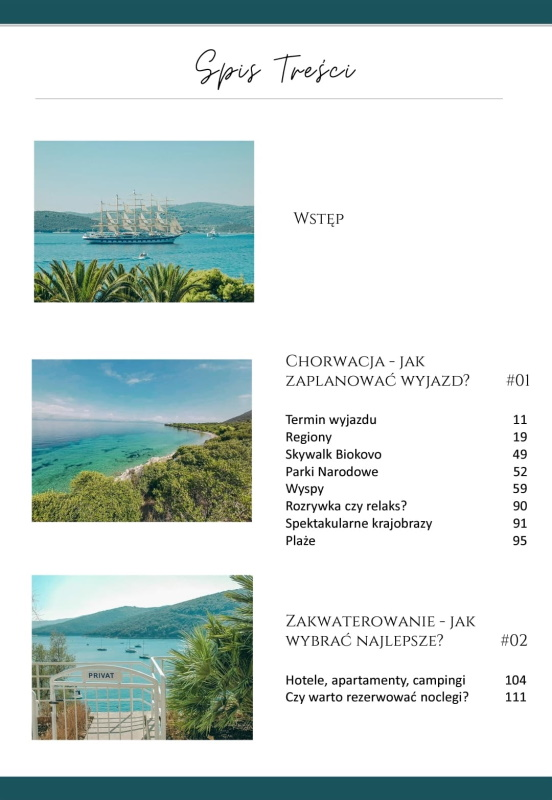 Chorwacja. Wakacje od A do Z - spis treści 1