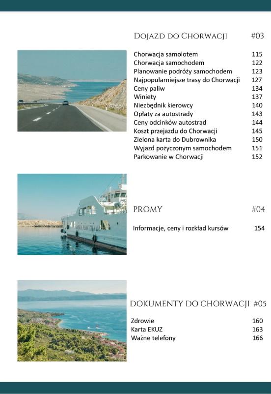 Chorwacja. Wakacje od A do Z - spis treści 2