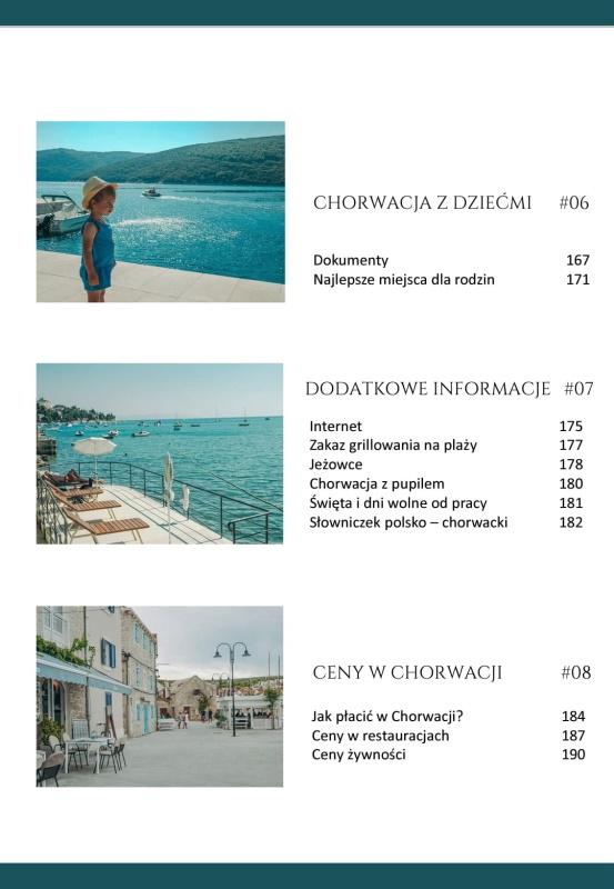 Chorwacja. Wakacje od A do Z - spis treści 3