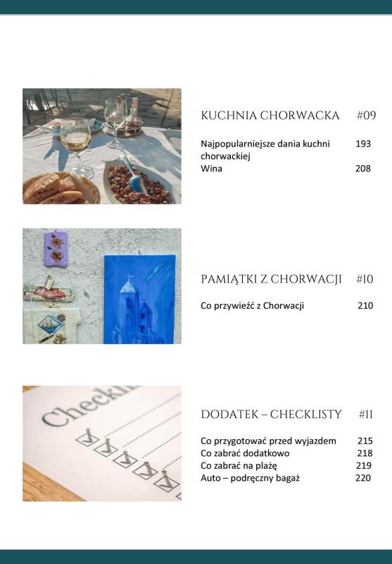Chorwacja. Wakacje od A do Z - spis treści 4